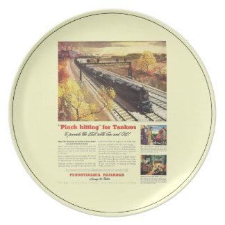 Pennsylvania Railroad Tanker Trains 1942 Dinner Plate