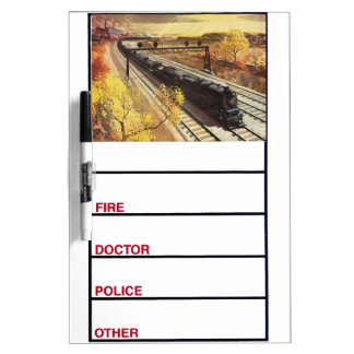 Pennsylvania Railroad Tanker Trains 1942 Dry-Erase Board