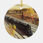 Pennsylvania Railroad Tanker Trains 1942 Christmas Tree Ornament