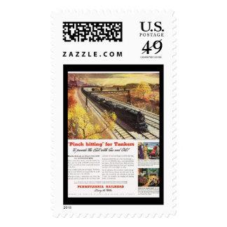Pennsylvania Railroad Tanker Trains 1942 Postage