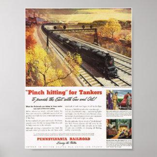 Pennsylvania Railroad Tanker Trains 1942 Poster