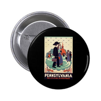 Pennsylvania Railroad The Little Red Schoolhouse Button