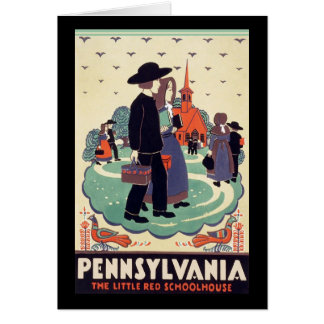 Pennsylvania Railroad The Little Red Schoolhouse Card