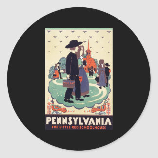 Pennsylvania Railroad The Little Red Schoolhouse Classic Round Sticker