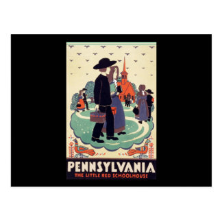 Pennsylvania Railroad The Little Red Schoolhouse Postcard