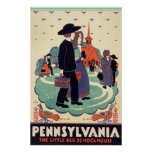 Pennsylvania Railroad The Little Red Schoolhouse Print