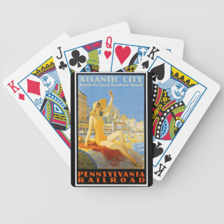 Pennsylvania Railroad to Atlantic City Bicycle Playing Cards