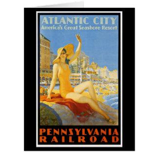 Pennsylvania Railroad to Atlantic City Greeting Greeting Cards