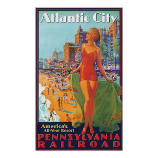 Pennsylvania Railroad to Atlantic City Poster