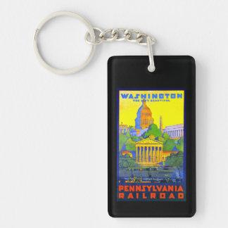 Pennsylvania Railroad to Washington D.C. Keychain