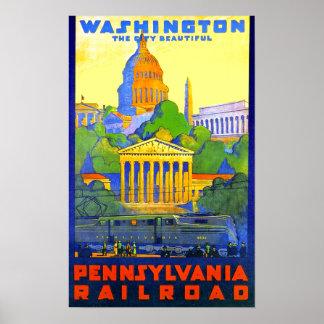 Pennsylvania Railroad to Washington D.C. Poster