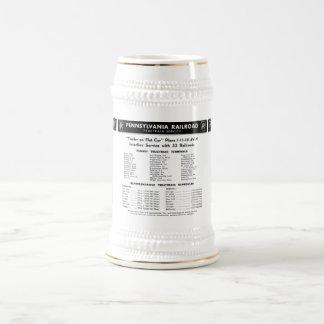 Pennsylvania Railroad TrucTrain Service Beer Stein Coffee Mugs