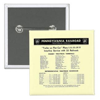 Pennsylvania Railroad TrucTrain Service Button