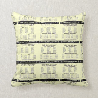 Pennsylvania Railroad TrucTrain Service Pillows