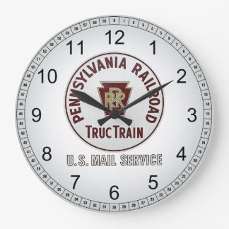 Pennsylvania Railroad TrucTrain Service Wall Clock