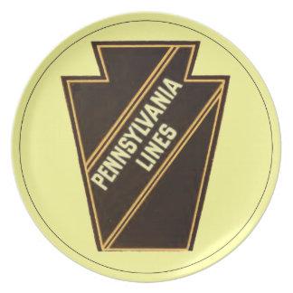 Pennsylvania Railroad Vintage Logo Melamine Plate