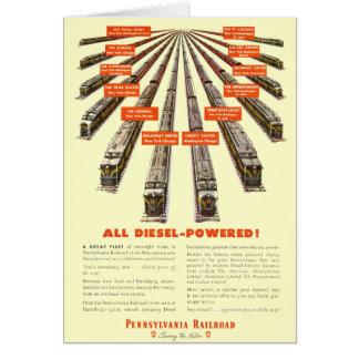 Pennsylvania Railroads East - West  Now all Diesel Card