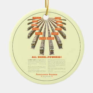 Pennsylvania Railroads East-West Now all Diesel Ceramic Ornament