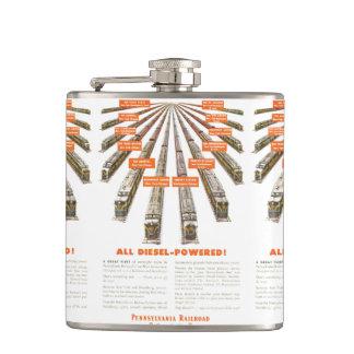 Pennsylvania Railroads East-West Now all Diesel Hip Flask
