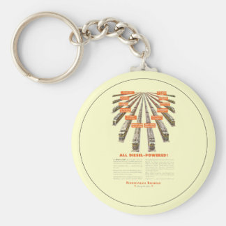 Pennsylvania Railroads East-West Now all Diesel Key Chain