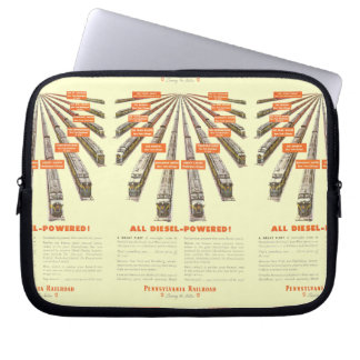 Pennsylvania Railroads East-West Now all Diesel Laptop Sleeve