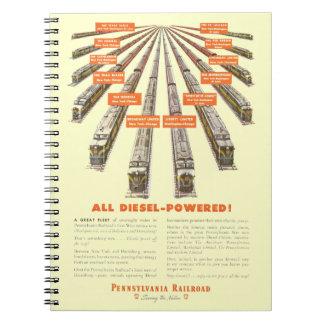 Pennsylvania Railroads East-West Now all Diesel Notebook