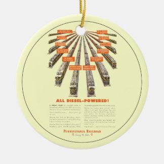 Pennsylvania Railroads East-West Now all Diesel Christmas Ornaments