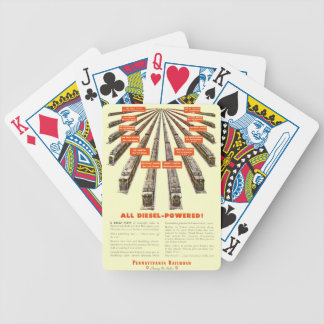 Pennsylvania Railroads East-West Now all Diesel Bicycle Playing Cards