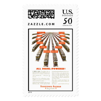 Pennsylvania Railroads East - West  Now all Diesel Postage