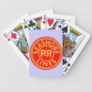 Pennsylvania Reading Seashore Lines Logo Bicycle Playing Cards