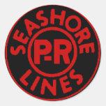 Pennsylvania Reading Seashore Lines Logo Classic Round Sticker