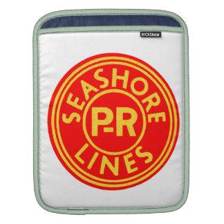 Pennsylvania Reading Seashore Lines Logo Sleeves For iPads