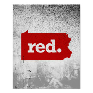 PENNSYLVANIA RED STATE POSTER