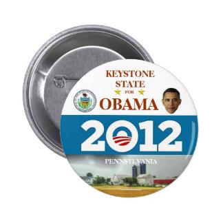 PENNSYLVANIA reelige el pinback político de Obama