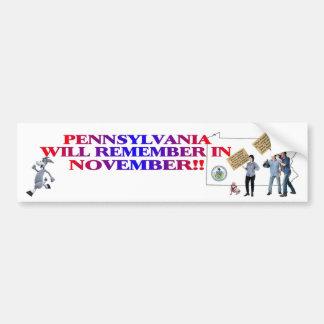 Pennsylvania - Return Congress To The People!! Bumper Sticker