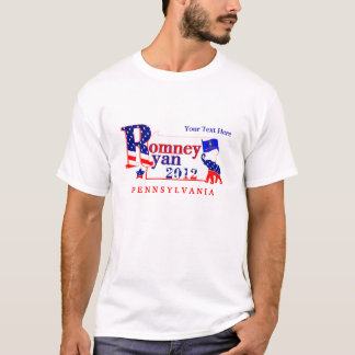 Pennsylvania Romney and Ryan 2012 Tee Shirt 2