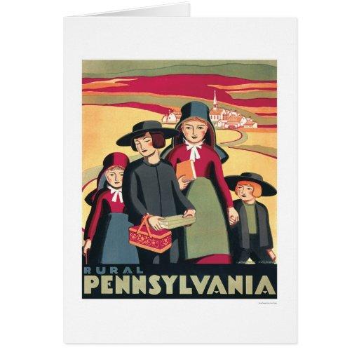 Pennsylvania rural Amish WPA 1939 Tarjeta De Felicitación