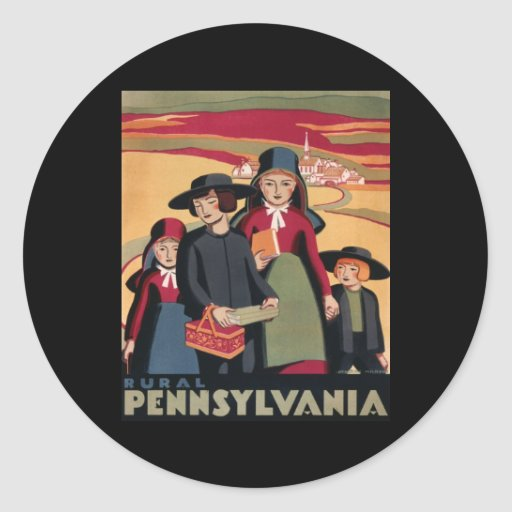 Pennsylvania rural pegatina redonda