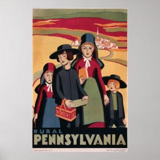 Pennsylvania rural poster