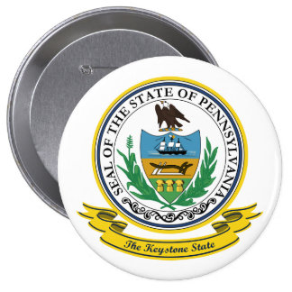 Pennsylvania Seal 4 Inch Round Button