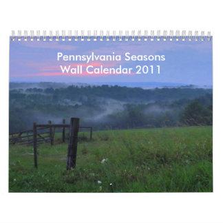 Pennsylvania Seasons Wall Calendar 2011
