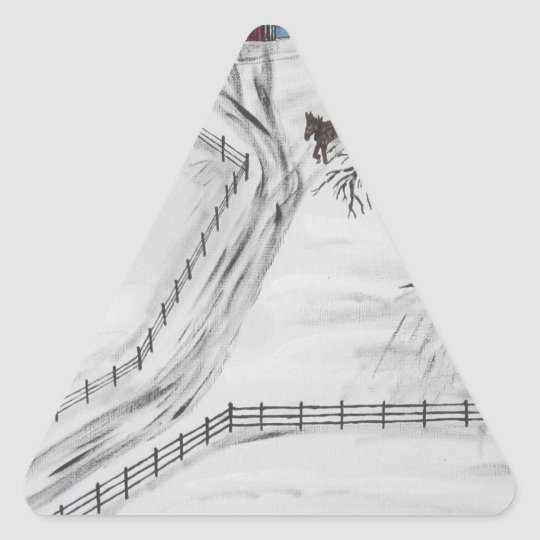 Pennsylvania Sleigh Ride Triangle Sticker