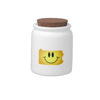 Pennsylvania Smiley Face Candy Jar