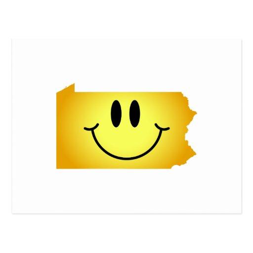 Pennsylvania Smiley Face Postcard