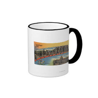 Pennsylvania (State Capital/Flower) Ringer Coffee Mug