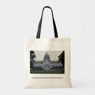 Pennsylvania State Capitol Building, Harrisburg, P Budget Tote Bag