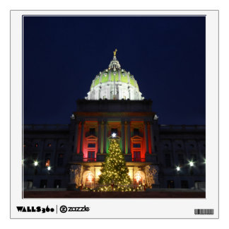 Pennsylvania State Capitol Christmas Tree Lights Wall Sticker