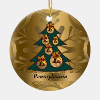 Pennsylvania State Christmas Ornament