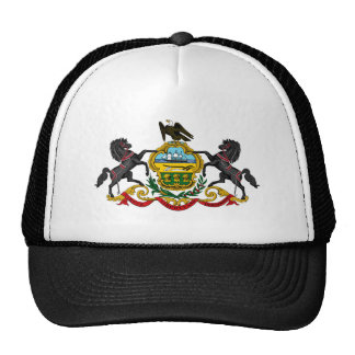 Pennsylvania state coat arms flag united america r trucker hat