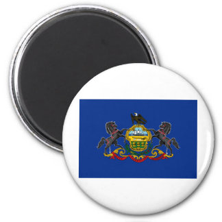 Pennsylvania State Flag 2 Inch Round Magnet